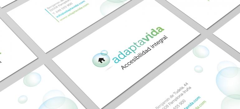 logotipo y tarjetas de visita para adapta accesibilidad integral