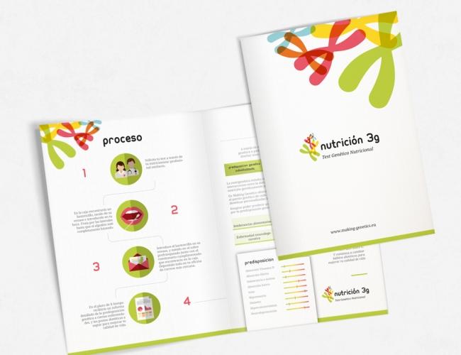 folleto y logotipo para test genético