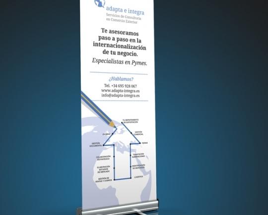 """Imagen corporativa y web """"Adapta e Integra"""""""